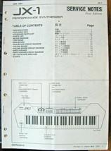 Roland JX-1 Performance Synthesizer Tastatur Original Servicehandbuch Br... - $39.59