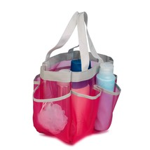 Mesh Shower Caddy Tote Bathroom Organizer Rose Pink 7 Pocket, Dorm Must-... - $13.91