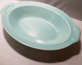 LuRay Pastels OVAL SERVING BOWL Taylor Smith Taylor TS&T light turquoise... - $18.99