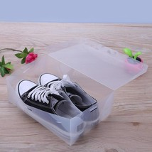 Plastic Shoe Box 10Pcs Clear Storage Case Holder Transparent Tier Rack O... - $30.14 CAD