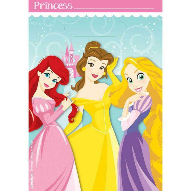 Disney Princess 1st Party Favor Treat Loot Bags 8 Per Package Party Supplies