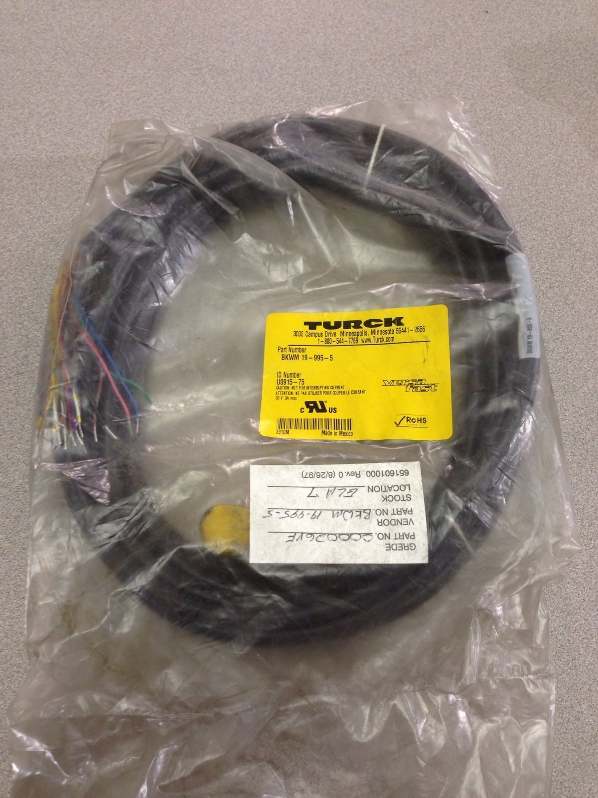 New In Bag Turck Versa Fast Cable Wire Bkwm and 46 similar items