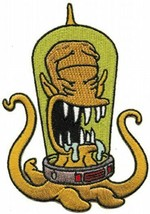 The Simpsons Drooling Kang Alien Figure Embroidered Patch, NEW UNUSED - $7.84
