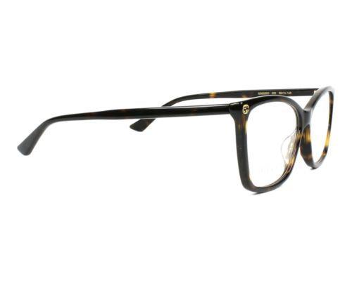 334e2d47eb5d Authentic Gucci Eyeglasses GG00250 002 Havana Frames Rx-ABLE 56MM