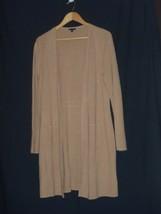 Talbots Cotton Wool TAN Cardigan Sweater Size LARGE Women CN5000  - $55.81