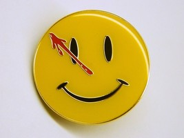 DC Comics The Watchmen The Comedian Smiley Face Metal Enamel Pin NEW UNUSED - $7.84