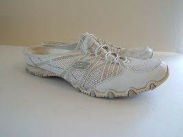 Skechers 8.5 Leather White Women Sneakers image 3