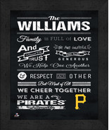 """Pittsburgh Pirates """"Family Cheer"""" 13 x 16 Framed Print - $39.95"""