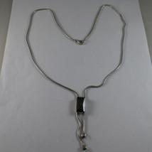 .925 SILVER RHODIUM NECKLACE WITH RECTANGLE GREEN CRISTAL image 2