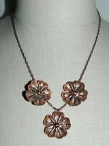 "VTG MATISSE RENOIR Signed ""LEILANI"" Design Copper Demi Parure Set - $123.75"