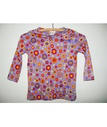Hanna Andersson Smiling Garden Purple Long Sleeve Shirt 100 3T Flowers F... - $14.83