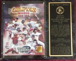 2004 World Series Champions Boston Red Sox Photo Plaque Sports Memorabilia - $14.90