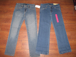 Lot of 2 Little Girls Jeans Distressed Bootcut Stretching Pants Sz 5/6/6x Blue - $23.99