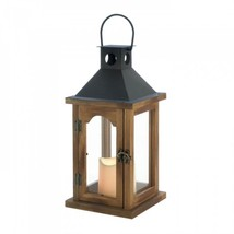 Simple Rustic Lantern With Led Candle - $34.01