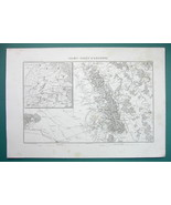 1846 MAP - FRANCE Environs of Valmy Verdun Chalons Sainte Menehould Malmy - $14.85