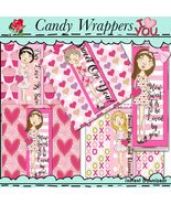 Miss Valentine Candy Bar Wrappers - $1.35
