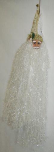 Sterling 382463 24 inch White Deluxe Santa Head Shimmering Beard