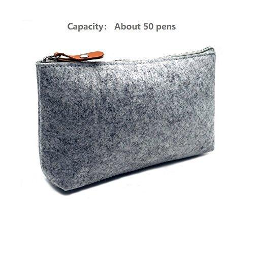 ERCENTURY Pencial Bag Pen Holder Cosmetic Pouch Bag, Felt Pouch Zipper Bag for S