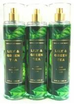 Bath & Body Works LILY & GREEN TEA Fine Fragrance BODY MIST spray 8 OZ~s... - $31.09