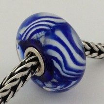 Authentic Trollbeads Arctic Stripes (O) Bead Charm 61188, New - $23.74