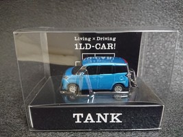 TOYOTA TANK LED Light Keychain Blue metallic Pull Back Not Sold in stores - $24.85