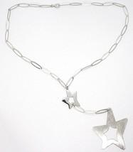 Collier Argent 925,Chaîne Ovale,Double Étoile Pendentif Tricotée,Finition image 2