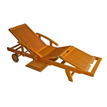 International Caravan Royal Tahiti Wooden Chaise Lounge with Multi Position - $398.88