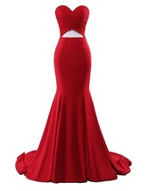 Women Sexy Cut Out Mermaid Prom Gown Formal Long Party Bridesmaid Evening Dress - $124.00
