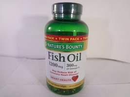 Nature's Bounty Fish Oil Heart Health 180 Rapid Release Softgels 23-N - $11.88