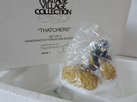 DEPT 56 58297 HERITAGE VILLAGE THATCHERS INCOMPLETE ONLY 2 PCS IN BOX L137 - $8.76