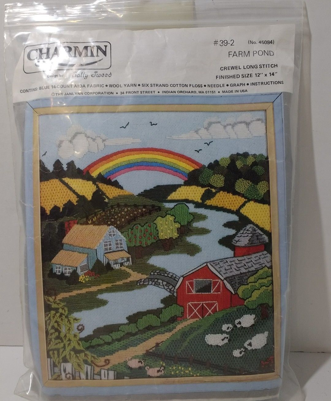 "Primary image for Farm Pond Crewel Long Stitch Charmin Unopened 12"" x 14"""