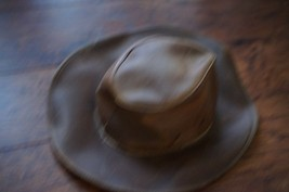 Henschel Classic Leather Outback Hat suede interior small - $47.49