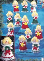 Bucilla Holiday Angels Christmas Felt Ornament Kit 83205 Wreath Heart Star - $47.95