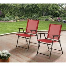 Sling Back Folding Chairs 2 Piece Patio Garden Camping Pool Deck Outdoor... - $59.99