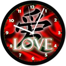 "Japanese LOVE, EXCLUSIVE! 8"" Homemade Wall Clock, Black, Free Shipping! - $23.97"