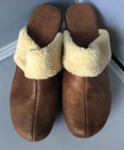 Nine West O-ClarigeQ4 Womens Brown Italian Faux Fur Mule Shoe - Size 9M - $19.75