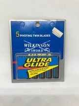 Vintage Wilkinson Sword Ultra Glide Blue Strip - 5 Twin Blades - $19.99
