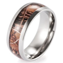 Men's Titanium Real Forest Camo Ring Outdoor Hunting wedding band - $18.90