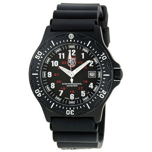 Original Luminox 3100 3200 Navy Seal F-117 22mm Caucho Negro Correa de Reloj