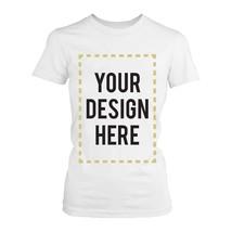 Custom T-shirt Photo Design Print White Tee for Women - $16.99+