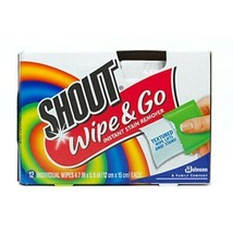 4 X Shout Wipe & Go, Portable Stain Treater Towelettes 12 ea (5 X 6 inch... - $17.98