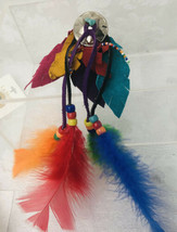Western Style Metal Concho Button Cover Indian Theme - Leather Feathers ... - $9.90
