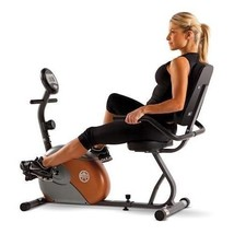 Marcy Recumbent Step Through Exercise Bike with Eight Resistance Levels - $179.18