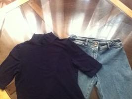 Ladies/Teens-Lot of 2- Size M-Ralph Lauren turtle neck/ Size 4 Lauren Jeans - $18.25