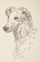 Borzoi Russian Wolfhound Art Kline Word Drawing #31 - $49.95
