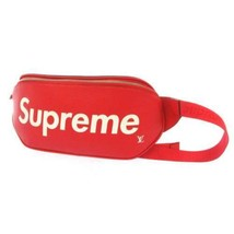 LOUIS VUITTON Supreme Bumbag Epi Leather Red M53418 LV Waist Bag Men's Italy - $8,143.90