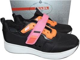 Prada Linea Rossa Runner Pink STRAP Navy Blue Sneakers 38 Shoes - $289.91