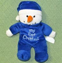 "DAN DEE MY FIRST CHRISTMAS BLUE SNOWMAN 10"" STUFFED ANIMAL BABY PLUSH TO... - $18.70"