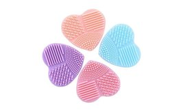 Heart Shaped Makeup Brush Cleaner Finger Glove Silicone, 2 or 4 packs image 2