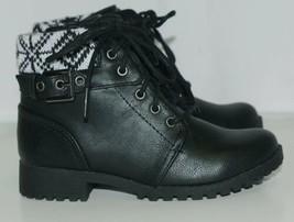 Arizona Jeans Company 6036002 Girls Ankle Boot Size 12 M AZ Lawton Black image 2